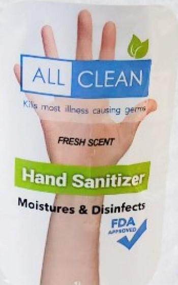 Retiran del mercado All Clean Hand Sanitizer